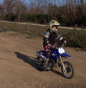 Moto cross, initiation enfant