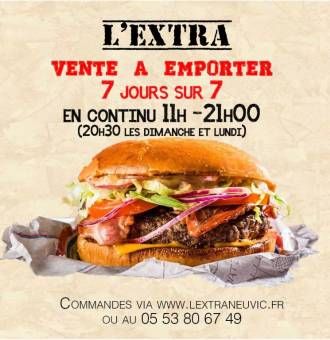 hamburger l'extra neuvic horaires